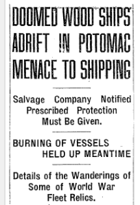 Sept. 3, 1925 Washington Post Headline, page 5.